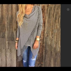 Sweaters - Women's Cardigan Loose Sweater Poncho